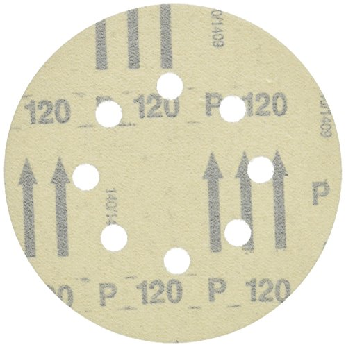 Bosch SR5R120 5-Piece 120 Grit 5 In. 8 Hole Hook-And-Loop Sanding Discs