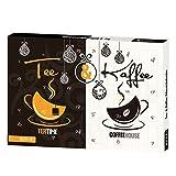 12 köstliche BIO-Tees und 12 geschmackvolle Kaffeevariationen z. Bsp. Latte Macchiato, Cappuccino, Mocca