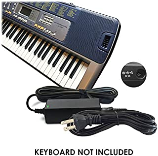 Replacement Casio DC 9V / 9 V Volt Adapter Power Supply Cord and plug AD-5, AD-5E, AD-5MLE, AD-5MLE-TC1, AD-5MR, AD-5EL, AD-5MU, AD-5GL for Select Casio Keyboards / Digital Piano / Synthesizers