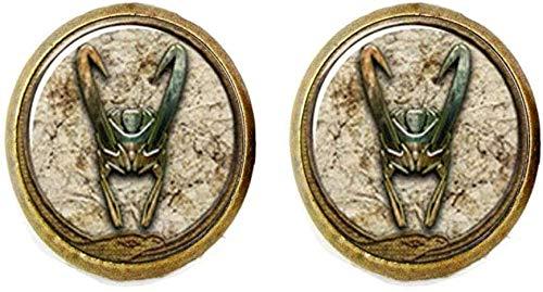Loki God of Mischief - Pendientes de cristal para fotos