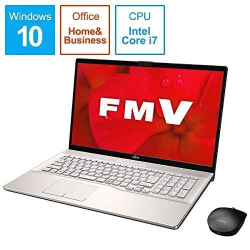 富士通 FMV LIFEBOOK NH90/D2(シャンパンゴールド)- 17.3インチ ノートパソコン[Core i7 / メモリ 8GB / SSD 256GB+HDD 1TB / Microsoft Office 2019] FMVN90D2G