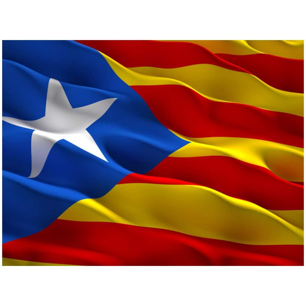 Lixure Bandera de Cataluña Estelada Blava 5x3 Días Ventosos 5x3ft (150x90cm) Nylon 210D Durable para Exterior/Interior Bandera Decorativa Resistente a Rayos UVA: Amazon.es: Jardín
