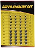Super Alkaline Button Cell Batteries Assorted 40pc by Unique Imports