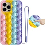 Funda para iPhone 7 Plus / 8 Plus, iPhone 6 Plus / 6s Plus, funda de silicona suave 3D, funda para teléfono con diseño de arco iris para liberar estrés a prueba de golpes (iPhone 6/6s/7/8/SE 2020)