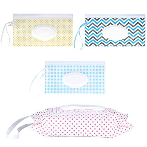 4 unidades de toallitas húmedas para bebé, dispensador de viaje, para toallitas húmedas, reutilizables, cajas de papel higiénico húmedo, cajas de papel higiénico para bebés