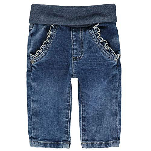 Steiff Mit Rüschen Und Teddybärmotiv Jeans, Bleu indigo (6050), 74 (Taille Fabricant: 074)