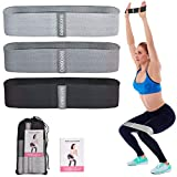 DIANMEI Resistance Bands for Legs and Butt Exercise Bands - Non-Slip Elastic Booty Bands, Fabric Workout Bands, Women/Men Stretch Exercise Loops, 3 Levels Set for Squat Glute Hip Training