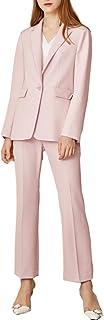 レディース スーツ パンツ 2点セットアップ フォーマル ビジネス 結婚式 大きいサイズ おしゃれ