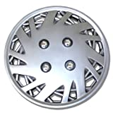 TuningPros WSC-157S14 Hubcaps Wheel Skin Cover 14-Inches Silver Set of 4