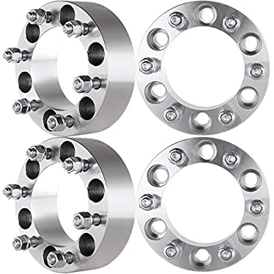 """ECCPP 4X 6x139.7 Wheel Spacers 6 Lug 2"""" 6x5.5 to 6x5.5 Fits for Toyota 4Runner Chevrolet Colorado Toyota FJ Cruiser with 12x1.5mm Studs"""