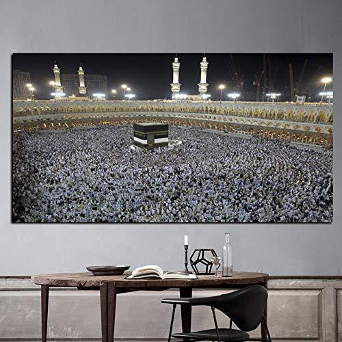 ganlanshu Rahmenloses Gemälde HD Islam Muslim Praying Pilgrim Mekka religiöses Bild CGQ7250 30X60cm