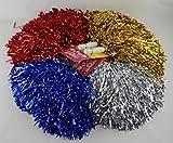 diverse 6 Stück Pom Poms Pom Pom Metallic Schimmer Puschen Cheerball Tanzwedel Lametta Cheerleader...