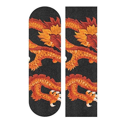 LDIYEU Goldener Fliegender Drache Skateboard Griptape rutschfest Selbstklebend Longboard Griptapes Aufkleber Griffband 33