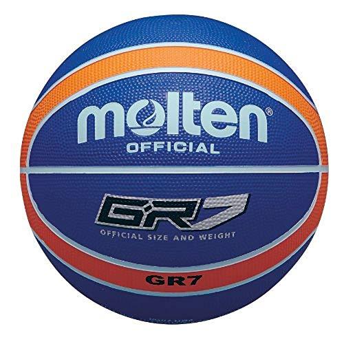MOlten BGR Basketball, mehrfarbig Blau Blau/Orange Größe 5
