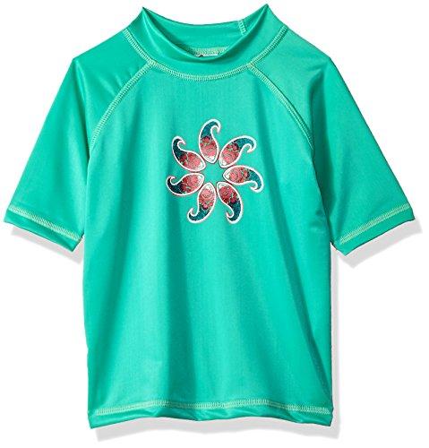 Kanu Surf Mädchen UPF 50+ Sun Protective Rashguard Swim Shirt Rash Guard Hemd, Sundance Green, X-Small