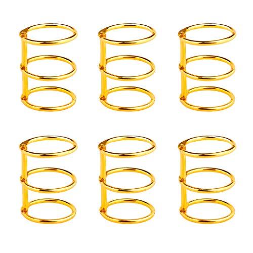 Binder Ringe 3 Ring Metall Lose Blatt Buch Ringe 25mm Ordner Ringbuch für Fotoalbum Scrapbook Album Handwerk 6 Stück Golden