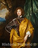 Art Print : Sir Anthony Van Dyck, Philip, Lord Wharton, 1632, Historic Wall Décor : 08in x 10in