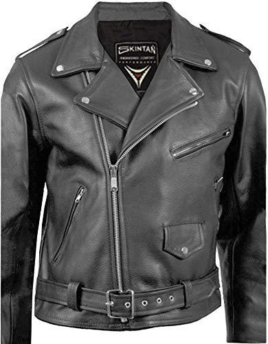 XL Skintan SOA Sons of Anarchy Stil Lederweste Biker Weste Leder Motorradweste JAX