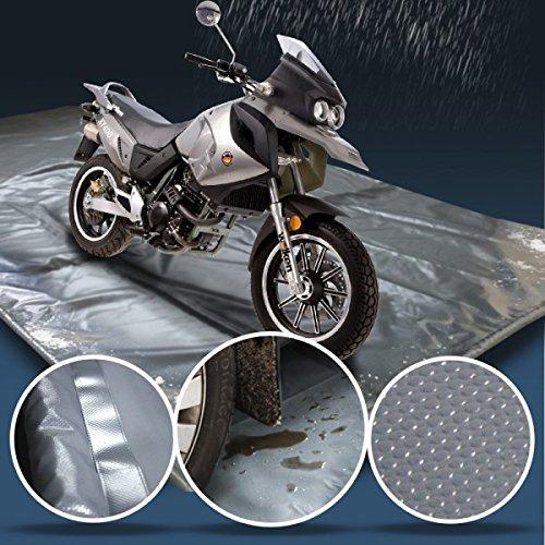 Wohnstyle24 Bodenschutzmatte 2x1, 2m Schutzfangmatte Auffangwanne Bodenabdeckung Quad Roller Motorrad Schnee Wasser Matsch Schutz Auto KFZ Werkstatt Boden Schutzmatte...