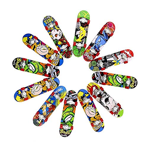 brightsen 12 unids dedo Skateboard profesional mini diapasones juguete exquisito nuevo innovador juguete helado partido favores para niños Navidad cumpleaños regalos