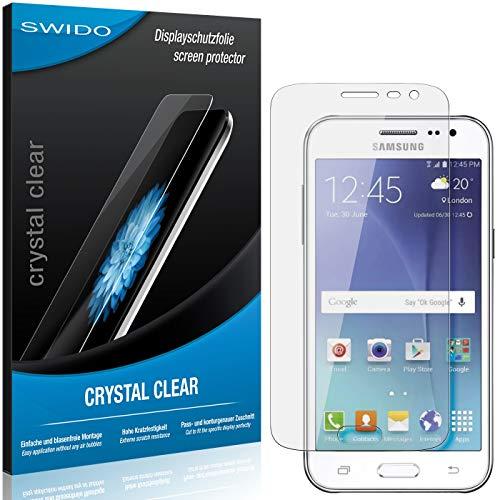 SWIDO Schutzfolie für Samsung Galaxy J2 Pro [2 Stück] Kristall-Klar, Hoher Festigkeitgrad, Schutz vor Öl, Staub & Kratzer/Glasfolie, Bildschirmschutz, Bildschirmschutzfolie, Panzerglas-Folie