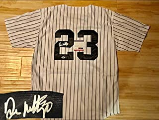 Don Mattingly Hand Autographed Signed Memorabilia New York Yankees Jersey Dodgers Marlins Jeter PSA/DNA