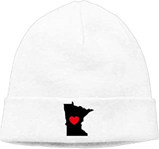 Minnesota Love Heart-1 Men'sWomen's Knit Hats Winter Warm Daily Hat