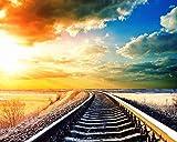 Kits de Pintar acrílica DIY para,Ferrocarril Sunset Prairie La pintura por...