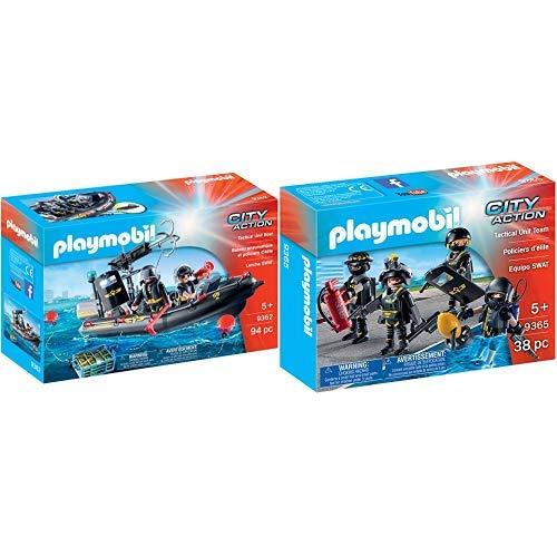 Playmobil 9362 - SEK-Schlauchboot Spiel &  9365 - SEK-Team Spiel