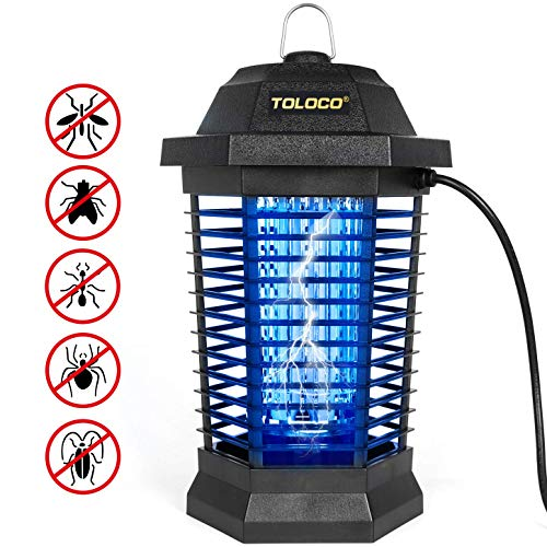 TOLOCO Bug Zapper Mosquito Killer, Fly Trap Outdoor Patio, Mosquito Attractant Trap for Outdoor, Insect Zapper with Hook, Hangable [Zap T6 Pro]
