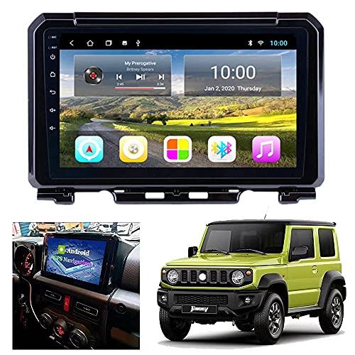 TCWDX Android 9.0 Car Stereo 1080P HD Reproductor Multimedia con Pantalla táctil para Suzuki Jimny JB74 JB64 2019 2020, Soporte WiFi/GPS/FM/Bluetooth Car Radio y Mirror Link Sistema de naveg