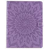 Yhuisen Sunflower Printing Design PU Leather Flip Wallet Tablet Case Cover for iPad Pro 12.9 inch (2018 Release, 3rd Generation) (Color : Purple)