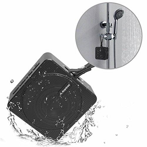 Avantree, SP950, draagbare mini-bluetooth-luidspreker, waterdicht voor de douche, 10 uur muziekduur, IPX6, kleine draadloze waterdichte luidspreker met SD-kaartsleuf voor outdoor en strand, waterdicht