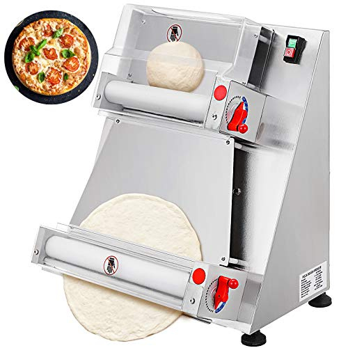 VEVOR Commercial Dough Roller Sheeter 15.7inch Electric Pizza Dough Roller Machine 370W Automatically Suitable for Noodle Pizza Bread and Pasta Maker Equipment