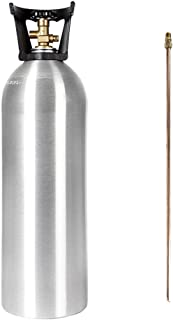 20 lb CO2 Tank New Aluminum CGA320 with SIPHON TUBE by Beverage Elements