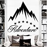 Haute Qualité Adventure Mountain Wall Decal Star Sticker Art Home Kids Room Interior Decor Vinyle Design Papier Peint 67x67cm