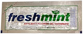 Freshmint Single Use Clear Gel Toothpaste Packets (50 Pack)