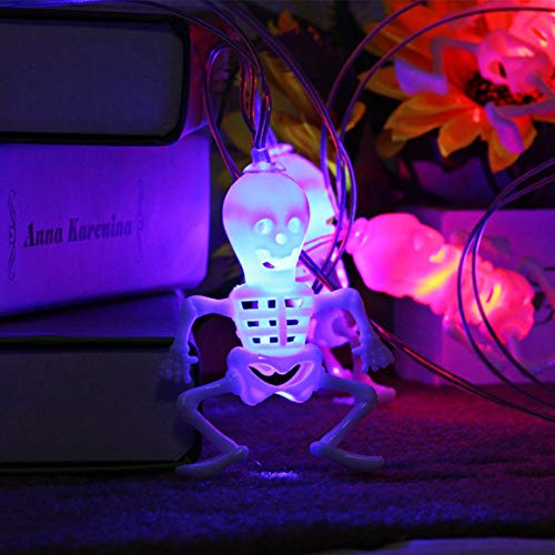Logicstring Luces de Cadena de Hadas LED de Halloween con Pilas 3D Calabaza 10 Luces LED Luces de decoración navideña de Halloween