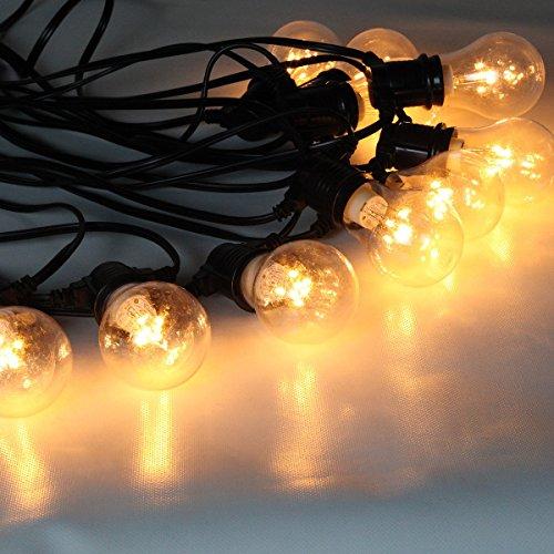 Festive Lights Cadena de luces profesionales - 10 bombillas de retroiluminación LED de color blanco cálido - Ideal para exteriores, comerciales, interiores - 9 metros - Conectable