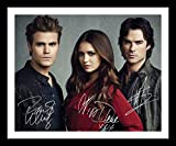 The Vampire Diaries - Paul Wesley & Nina Dobrev & Ian Somerhalder Autogramme Signiert Und Gerahmt Foto
