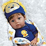 Paradise Galleries Reborn Baby Doll Boy Lions & Tigers & Bears, Oh My! Realistic Baby is Weighted and Comes with 3 Outfits. Kids 3+