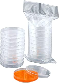 HAMILO シャーレ ペトリ皿 実験器具 プラスチック製 ディスポーザブル 使い捨て 実験用品 (20個セット)