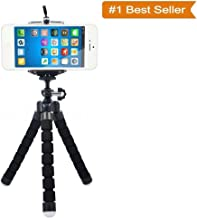 ShopAIS Adjustable Flexible Mini Portable Tripod Stand with Universal Smartphone Clip Holder - (Multicolor)
