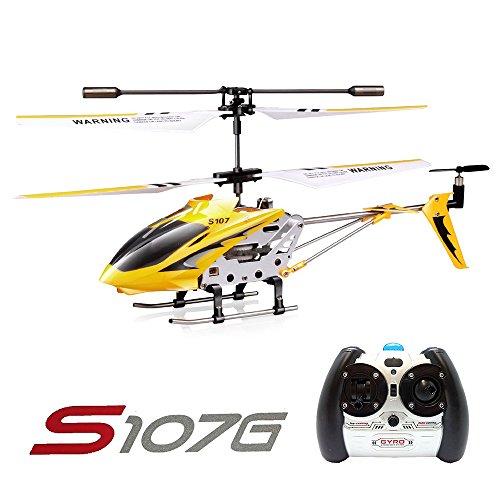 Syma S107G 3CH RC Radio Mini Alloy Telecomando Helicopter with Gyro Genuine Giallo