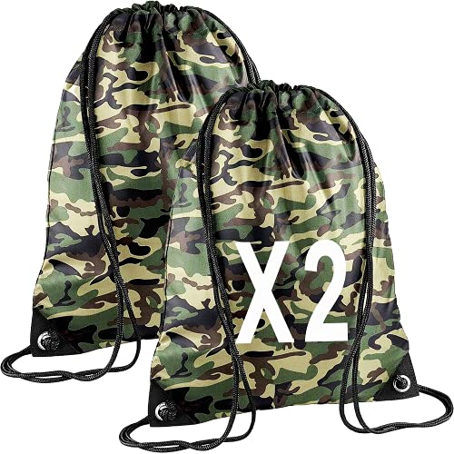 CLOTHING Sacca Sportiva Impermeabile Bambino Colorati (Camouflage - WGF 2)
