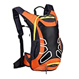 LYMHGHJ Herren Fahrradrucksack 15L Wasserdichter Fahrrad-Trinkrucksack Sporttasche Rucksack mit Basketballnetz für Outdoor-Trekking Wandern Camping Reisen Laufen