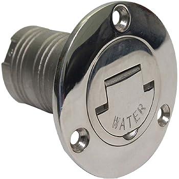 Ø 50 mm Edelsathl Tankstutzen Einfüllstutzen mit Tankdeckel für Wasser