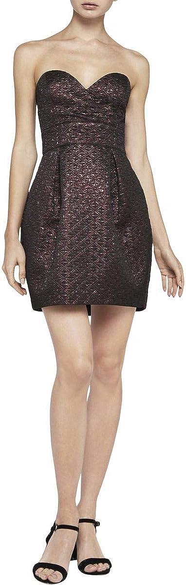 BCBGeneration Women's Strapless Metallic Textured Dress
