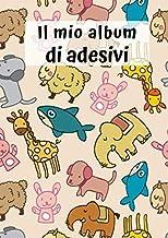Il mio album di adesivi: Animali dello zoo | 30 pagine | A4 | Vuoto | Idea regalo | Nessuna carta siliconica | Senza stick...
