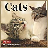 Cats Calendar 2021: Cats Wall Calendar 2021-2022 Size 8.5 x 8.5 Inch Monthly Square Wall Calendar Glossy Finish For Women, Men